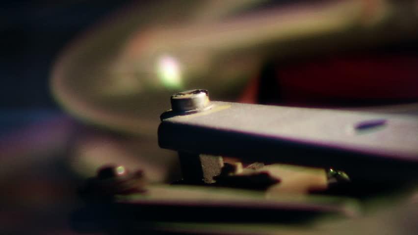 Vintage reel tape recorder detail (reel-to-reel)