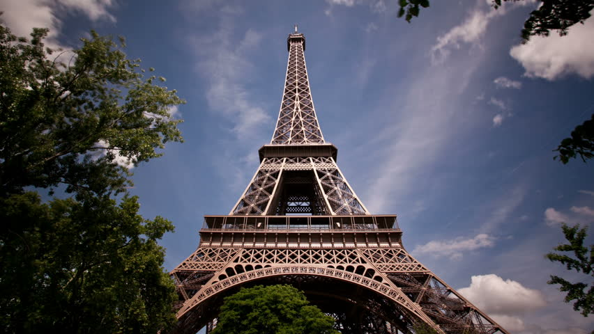 Daytime timelapse of clouds looking up at the Eiffel Tower | Shutterstock HD Video #1776512