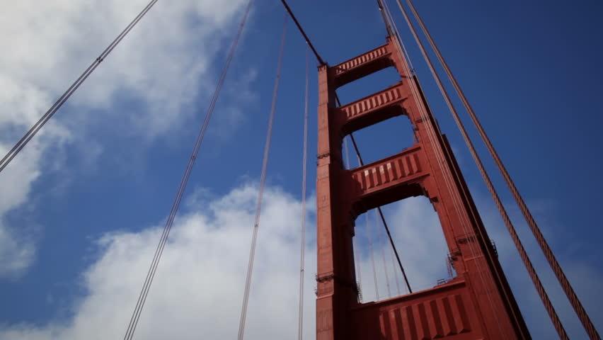 golden gate bridge - HD stock footage clip