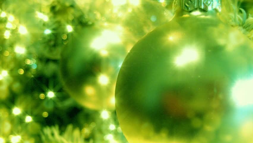 Green Christmas Tree HD Loop - HD stock video clip