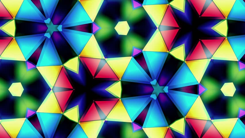 Kaleidoscope - Colors Loop - Tint Step - Macro Shot