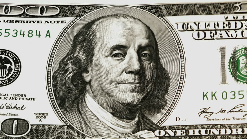 count dollars - HD stock footage clip