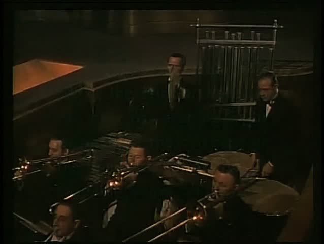 Orchestra playing in theater - SD stock footage clip