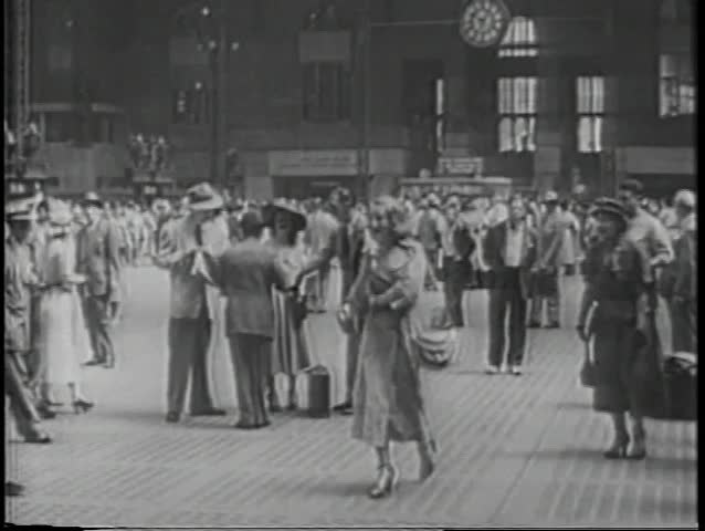 Grand Central Station in the 1940s
