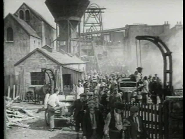 Miners leaving work