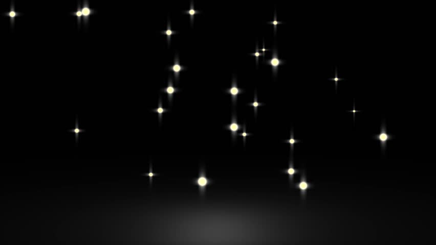 Glowing star particle in random direction with bounce on spotlight ground abstract background animation motion graphic 3D render with copy space on black background  | Shutterstock HD Video #18507215