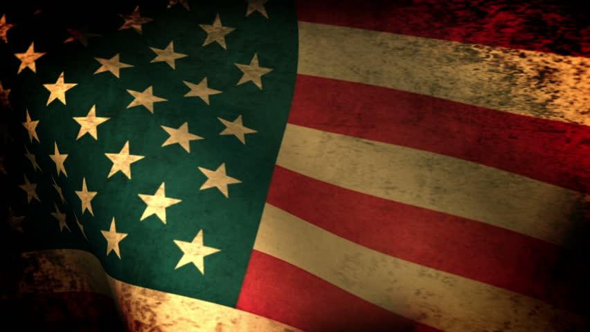 American Flag Waving, grunge