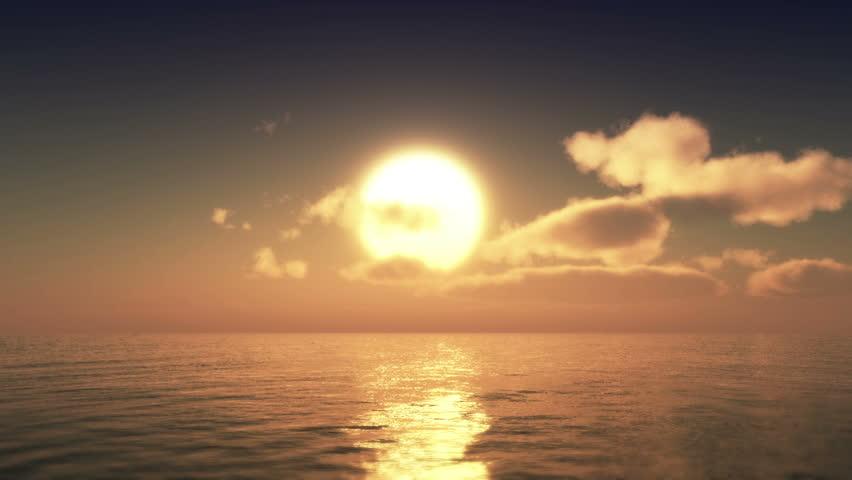 sunset over ocean #18548363