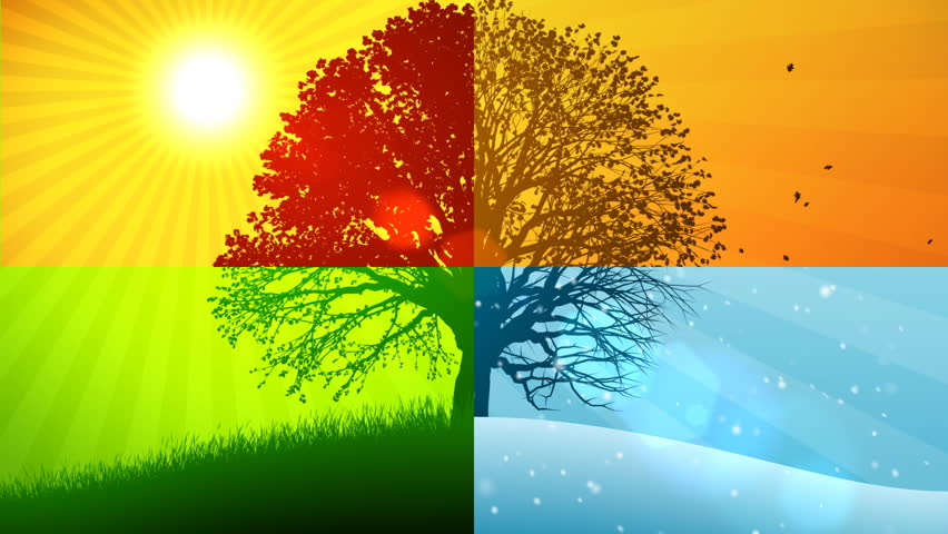 Seasons Composition (Animated Background) Stock Footage Video 710365 ...