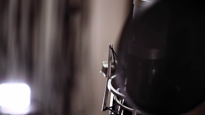 Studio microphone close-up. Recording studio. Music equipment. Music. | Shutterstock HD Video #18656084
