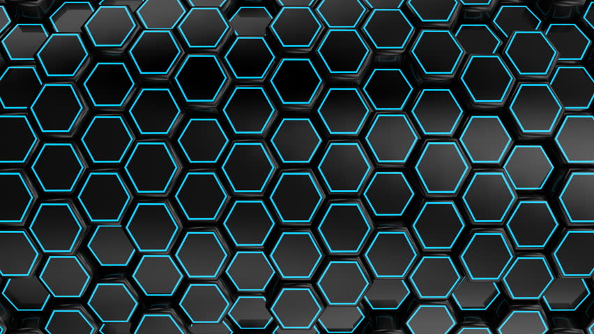 Animated Black Honeycombs. Abstract background, loop, created in 4K, 3d animation | Shutterstock HD Video #18682040