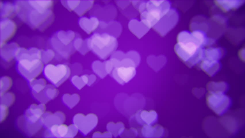 Purple Love Wallpaper: Purple Valentine Love Hearts Abstract Background Stock