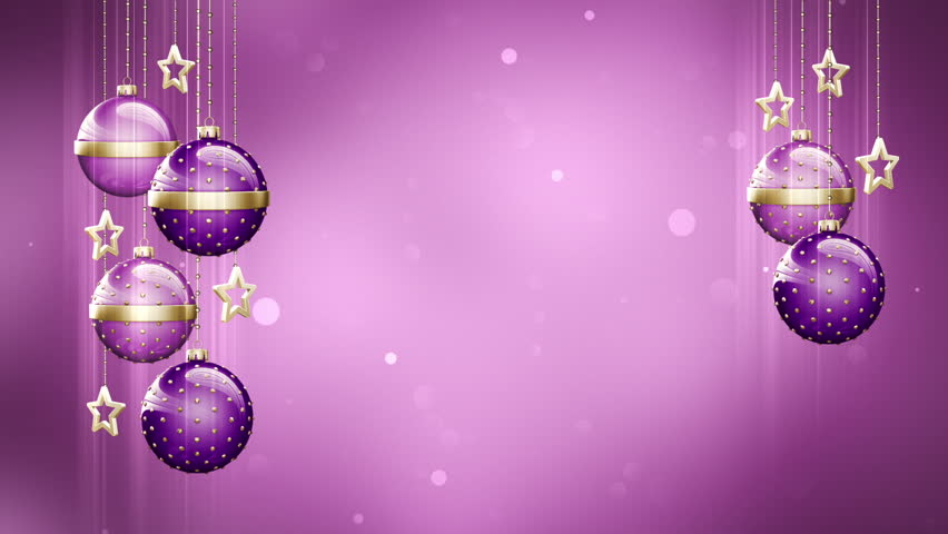 Christmas Background Loop. Rotating Christmas Decorations