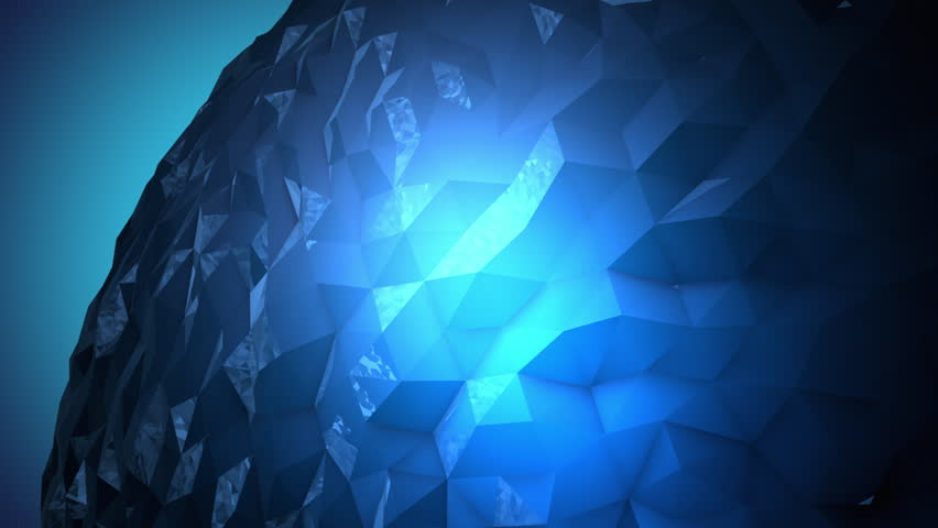A rotating sparkling blue crystal orb made of reflective random pieces highlighted by a spotlight.	 | Shutterstock HD Video #18810173