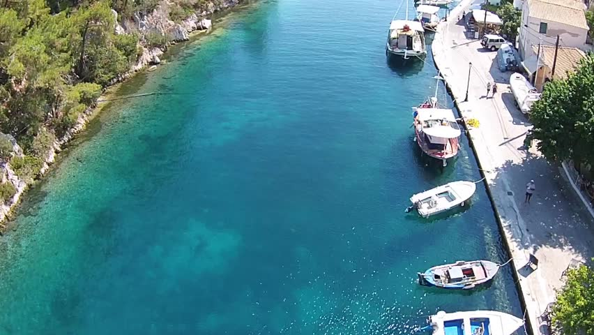 Paxi or Paxoi is the smallest island group within the Ionian Islands (the Heptanese).The main town of Paxoi, and the seat of the municipality, is Gaios | Shutterstock HD Video #18881255