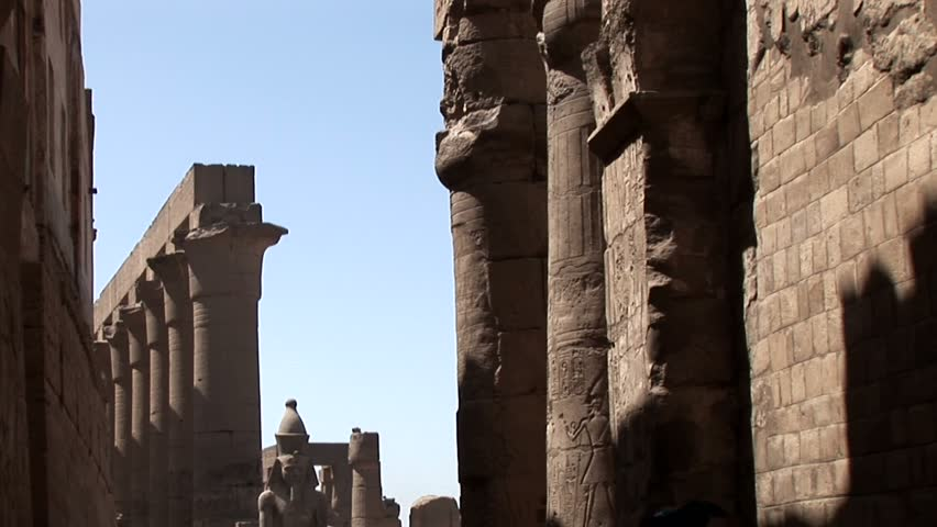 The Temple of Luxor ruins