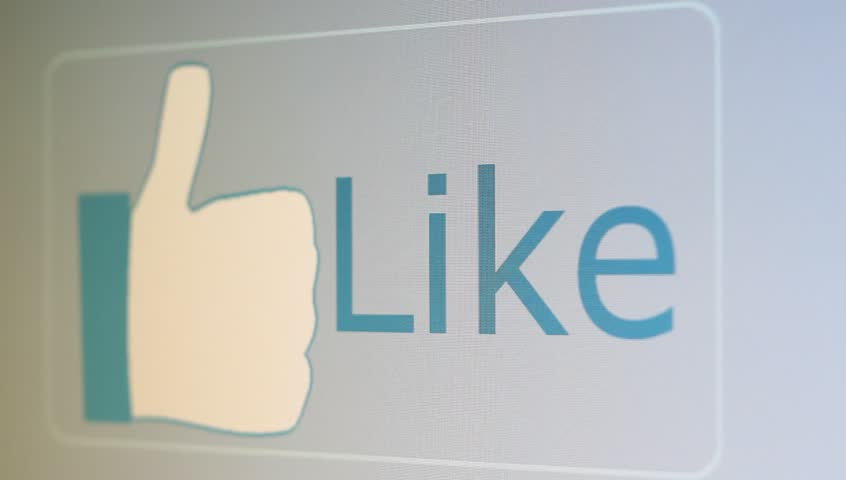 digital like button becomes clicked by a mouse pointer