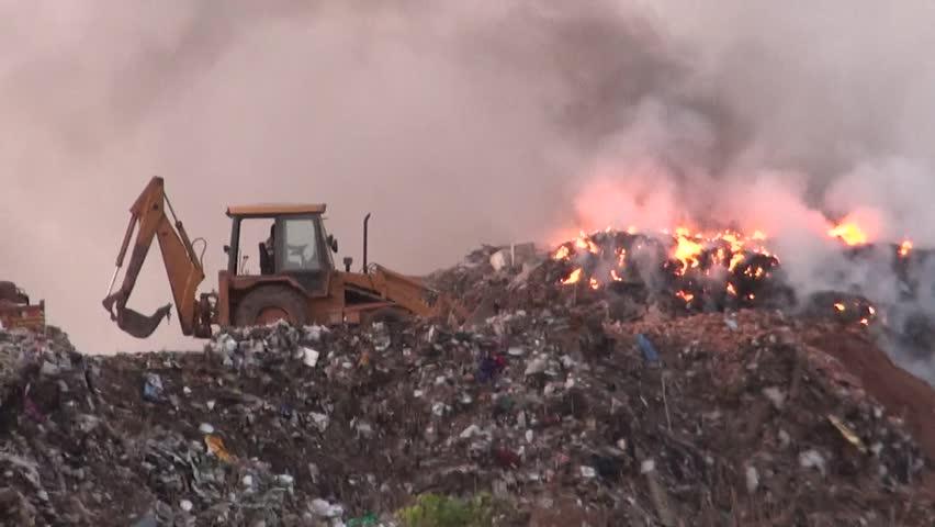 Burning Garbage Dump Garbage Dumping And Burning in