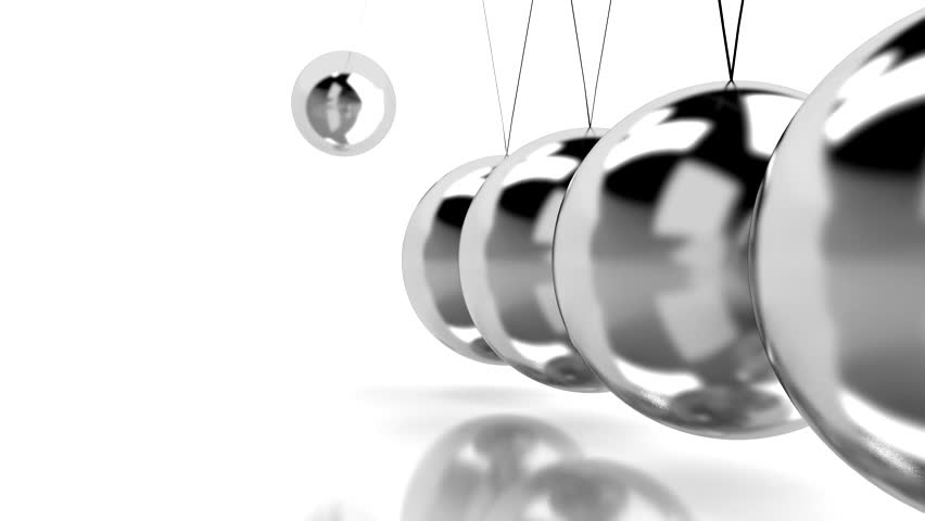 hypnotic background with Newton's cradle - HD stock footage clip
