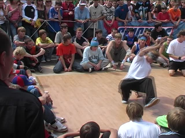 street hip-hop dance show - SD stock footage clip
