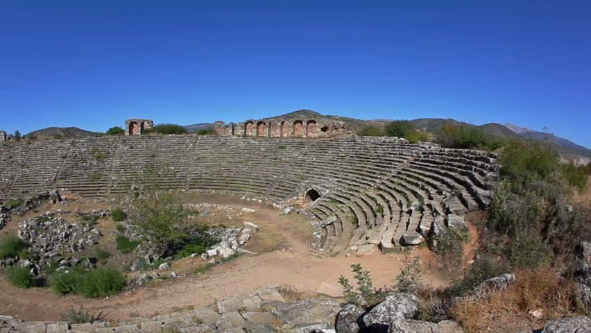 Famous Stadium in Aphrodisias for 30 000 people built during Hellenic era. In Roman time