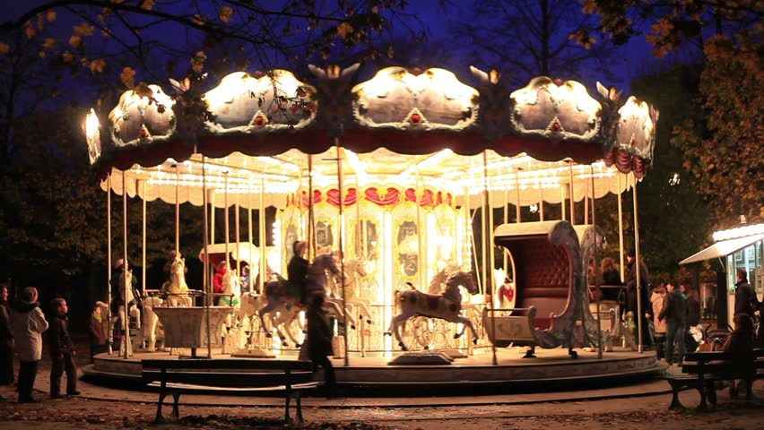 carousel in Paris - HD stock footage clip