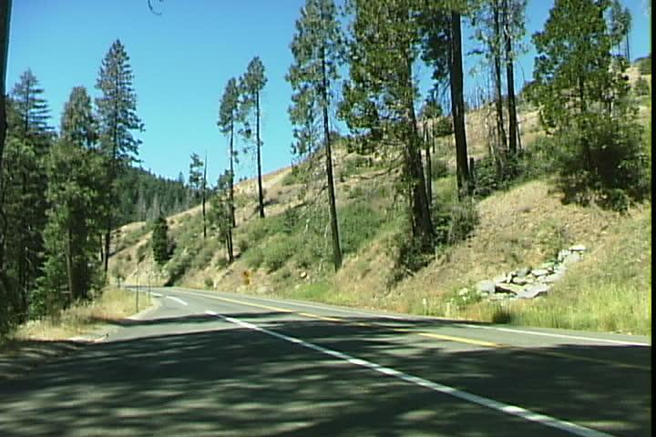 Mountain Road - SD stock video clip