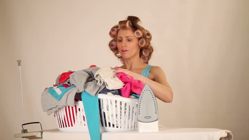 Frustrated housewife - HD stock video clip