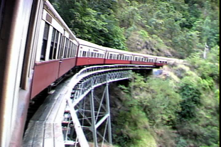 Queensland Rail Bridge pov - SD stock video clip