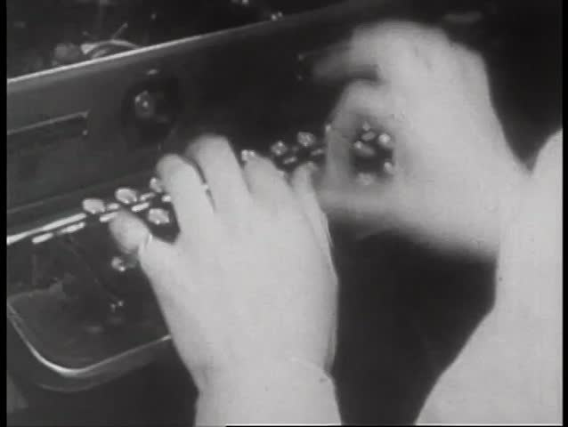 Close-up of woman typing on typewriter - SD stock video clip