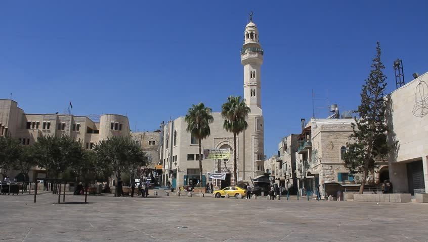 A mosque in Bethlehem, Israel - HD stock footage clip