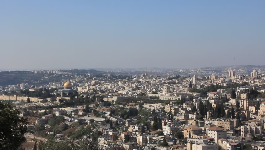 View of the city of Jerusalem - HD stock video clip