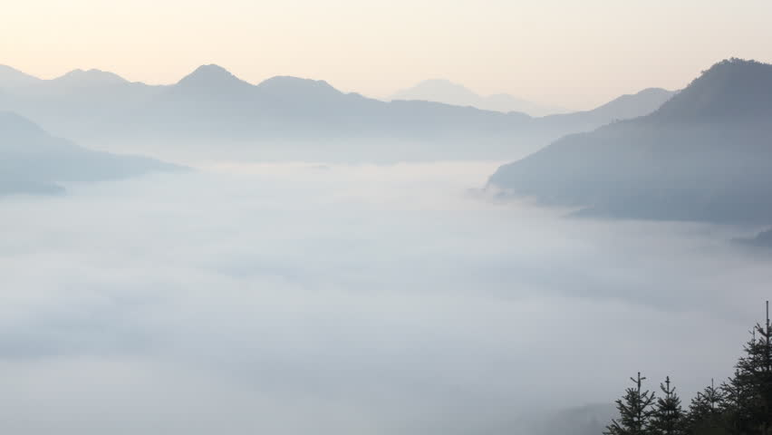 Fog and cloud mountain valley landscape, china | Shutterstock HD Video #2117459