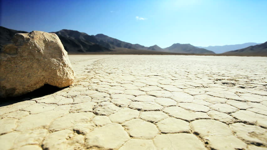Death Valley with cracked earth  - HD stock footage clip