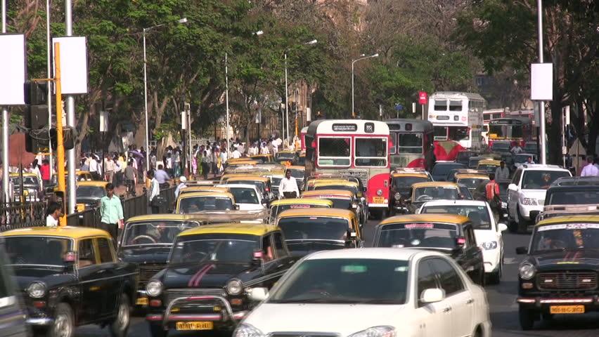 MUMBAI - APRIL 19: Traffic flows through the streets on April 19, 2012 in Mumbai, India.