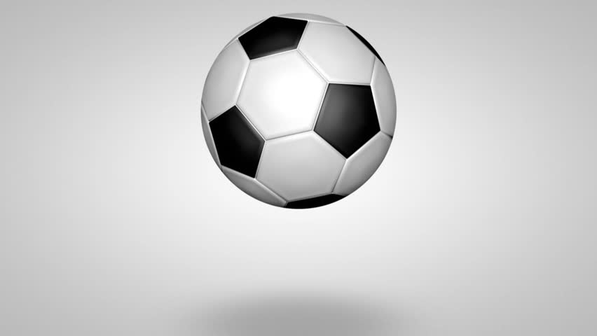 3d soccer ball bouncing loop with alpha channel stock