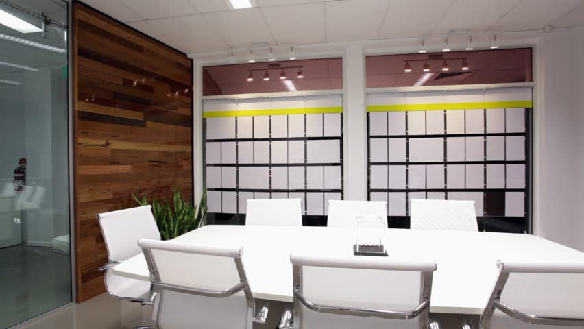 Stylish, new board or meeting room. LR pan. HD #2154953
