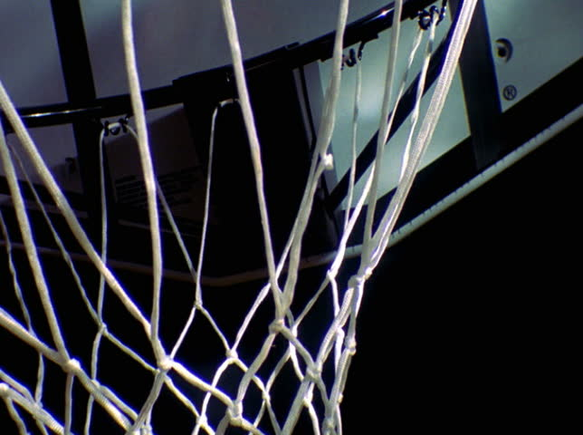 Basketball and hoop - SD stock footage clip