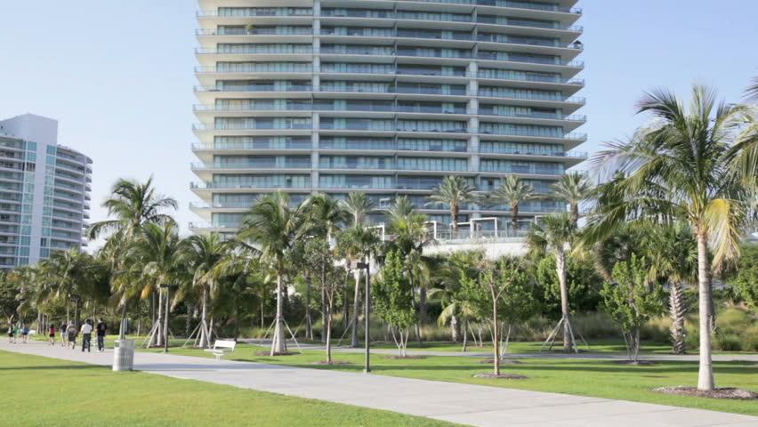 MIAMI - APRIL 12: Apogee Condominium in Miami Beach on April 12, 2012 in Miami, Florida - HD stock footage clip
