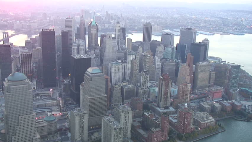 Aerial over New York City's Financial District and Ground Zero | Shutterstock HD Video #2168642