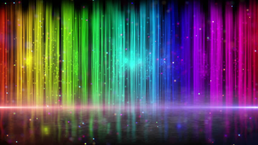 rainbow loopable background light beams and flying