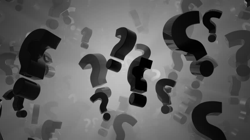 Question Marks Black And White Looping Animated Background ...