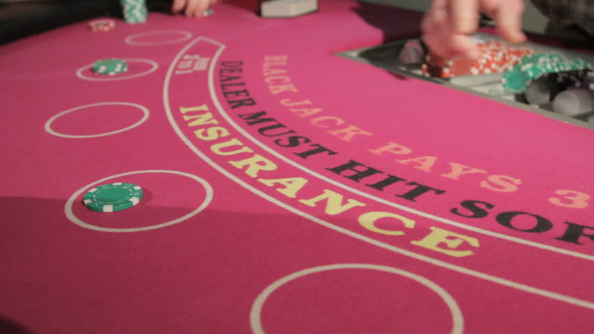 Blackjack game being played at a casino | Shutterstock HD Video #2278667