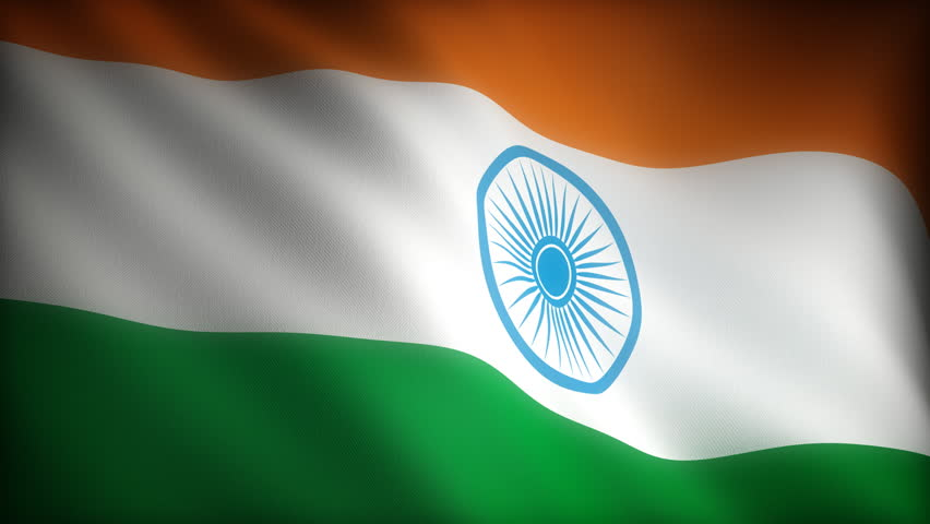 Flag of India (seamless) - HD stock footage clip