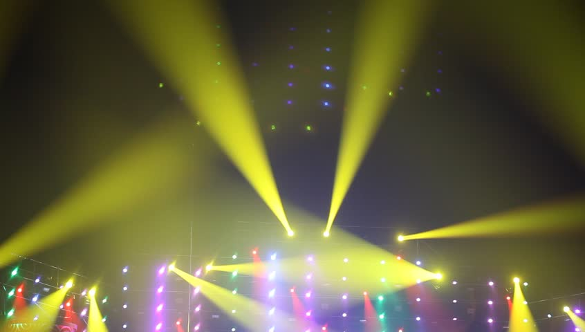Colorful lights in a concert