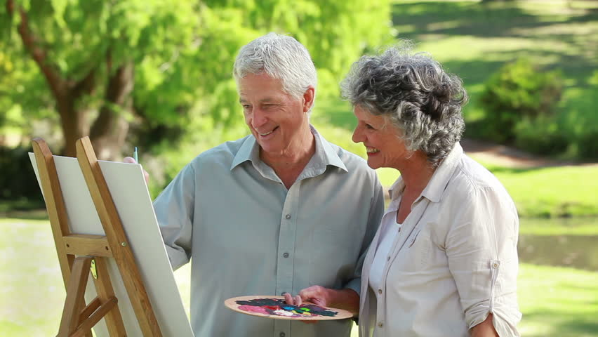Image result for man and wife painting together