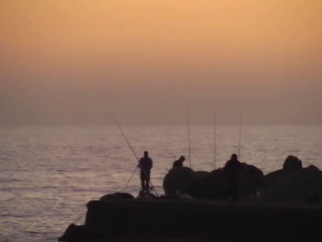 fisherman - SD stock video clip