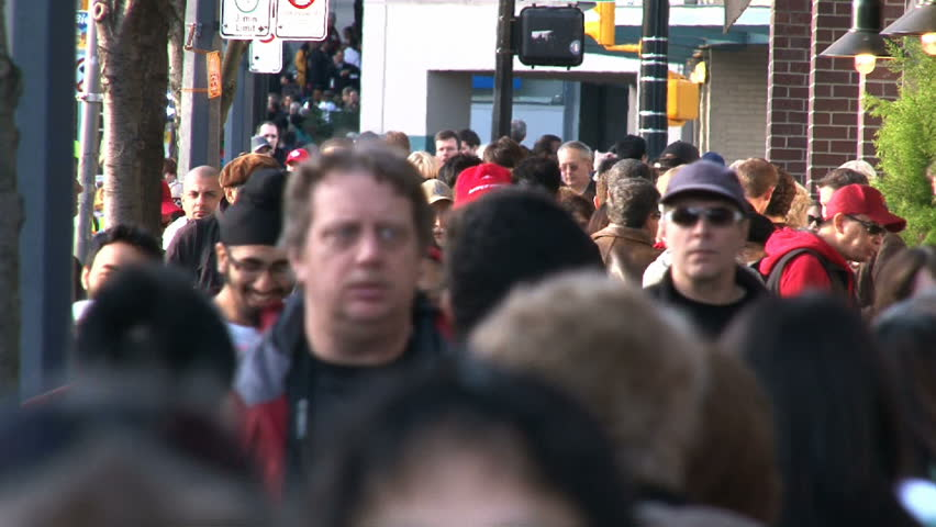 VANCOUVER, BRITISH COLOMBIA - CIRCA JANUARY 2010:  Time lapse of very busy