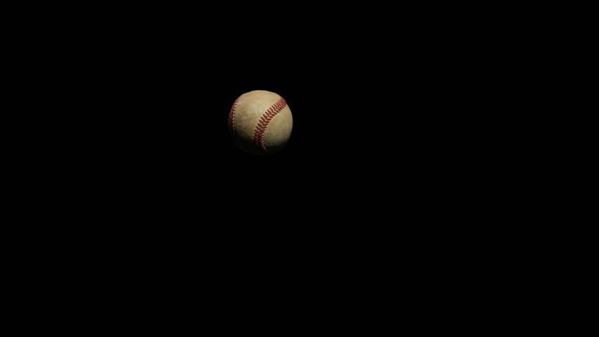 Baseball Bat hitting ball, super slow motion.