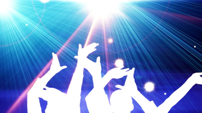 crowd dancing at concert  - HD stock video clip